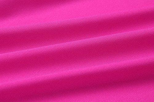 Mini Robe Acvip Casual Femme Dress Eté Irrégulier Sexy Rouge Rose EqWEtxOnR
