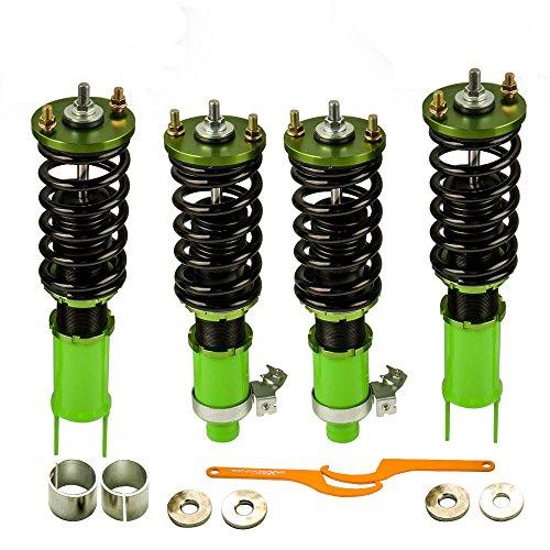 (Coilovers for Honda Civic 92-95 Integra 94-01 Civic Del Sol 92-97 Suspension Shock Absorber Coil Spring Strut Adjustable)