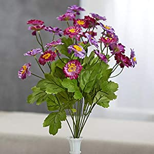 Factory Direct Craft Purple Artificial Zinnia Bush 41