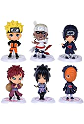 Generic Naruto Figures Set (6 Piece), 2.5""
