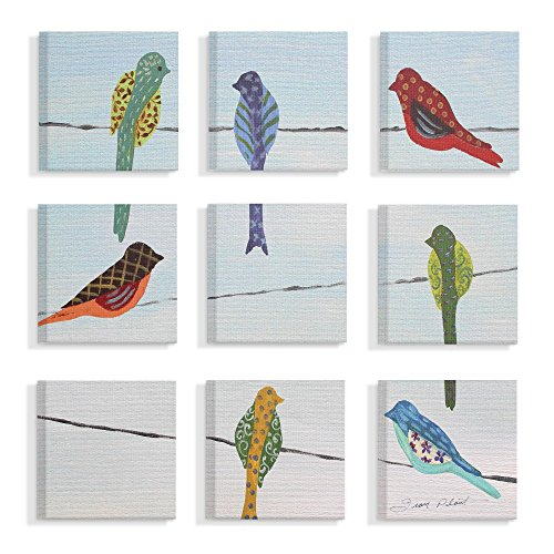 The Stupell Home Decor Collection nps-123_cn_9pc_12x12 Stretched Canvas Wall Art, 12 x 12, Multicolor made in Rhode Island