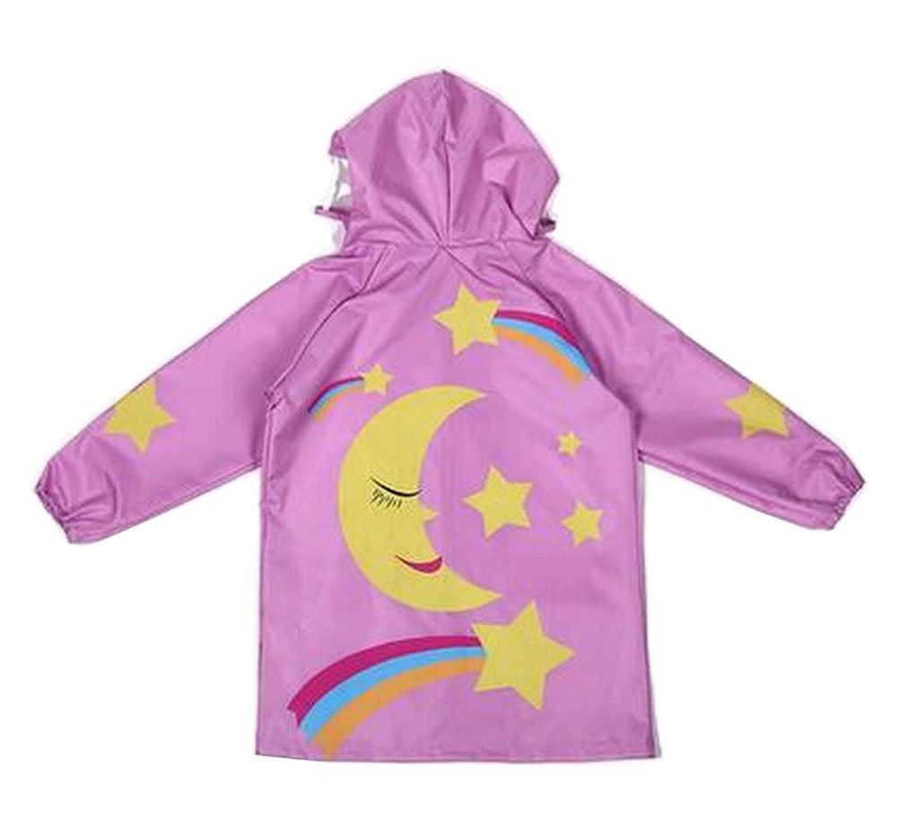 Lovely Children Raincoat Kids Rainwear Rain Jacket Star Pink