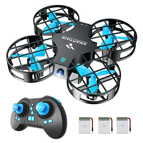 SNAPTAIN H823H Mini Drone for Kids and Beginners, 2.4G Remote Control Quadcopter with 3 Rechargeable Batteries, Altitude…