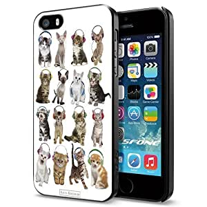 Cat Love Beat Music Apple Smartphone iphone 6 4.7 Case Cover Collector Black Hard Cases