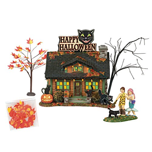 Department56 Snow Village Halloween The Black Cat Flat Lit Building and Accessories 6