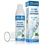 Effervess Rx Refresh Natural Aloe Vera Fluoride Free Toothpaste - Dry Mouth Care - Naturally Soothing & Moisturizing - Freshens Breath & Fights Cavities - Satisfaction Guaranteed