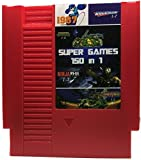 150 in 1 - NES Video Game Cartridge Mario, Kirby, Megaman, TMNT, Castlevania (RED CARTRIDGE)