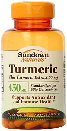 Sundown Naturals Turmeric 450 mg Capsules 90 ea (Pack of 2)