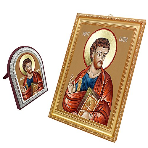 FengMicon Painting Art Saint Luke the Evangelist Regilious Icon - Evangelist Icon