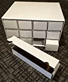 10 BCW Card House Storage Boxes plus 120 BCW 800 Card Storage Boxes