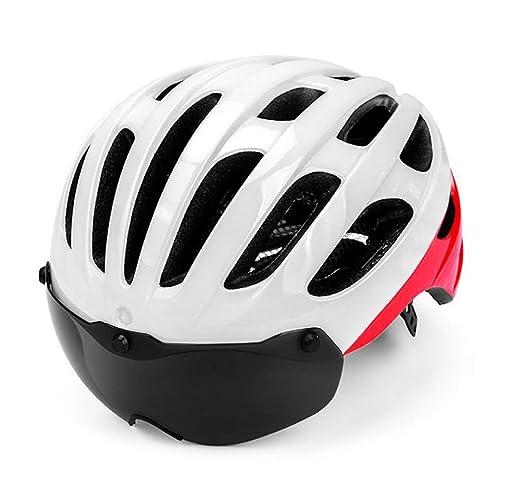 XGHW Bicicleta de montaña Ciclismo Casco Integrado Gafas ...