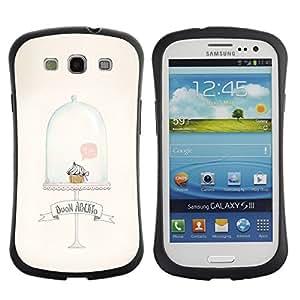 LASTONE PHONE CASE / Suave Silicona Caso Carcasa de Caucho Funda para Samsung Galaxy S3 I9300 / Cupcake Muffin Cute Minimalist Clean