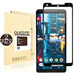 Google Pixel 2 XL Screen Protector [Glass][2-Pack] (Black), Linboll Screen Protector for Google Pixel 2 XL High Definition Ultra [Case-friendly][HD Clear][Anti-Bubble][Anti-Scratch]