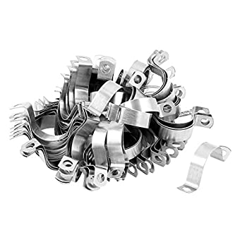 Stainless Steel Two Hole Pipe Strap Clamp Fastener 3/4-inch 100pcs