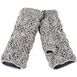 Nirvanna Designs MT13F Flower Crochet Hand Warmers