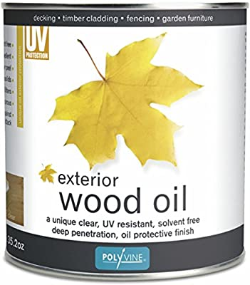 Polyvine Exterior Water Repellent Wood Oil with UV Protection