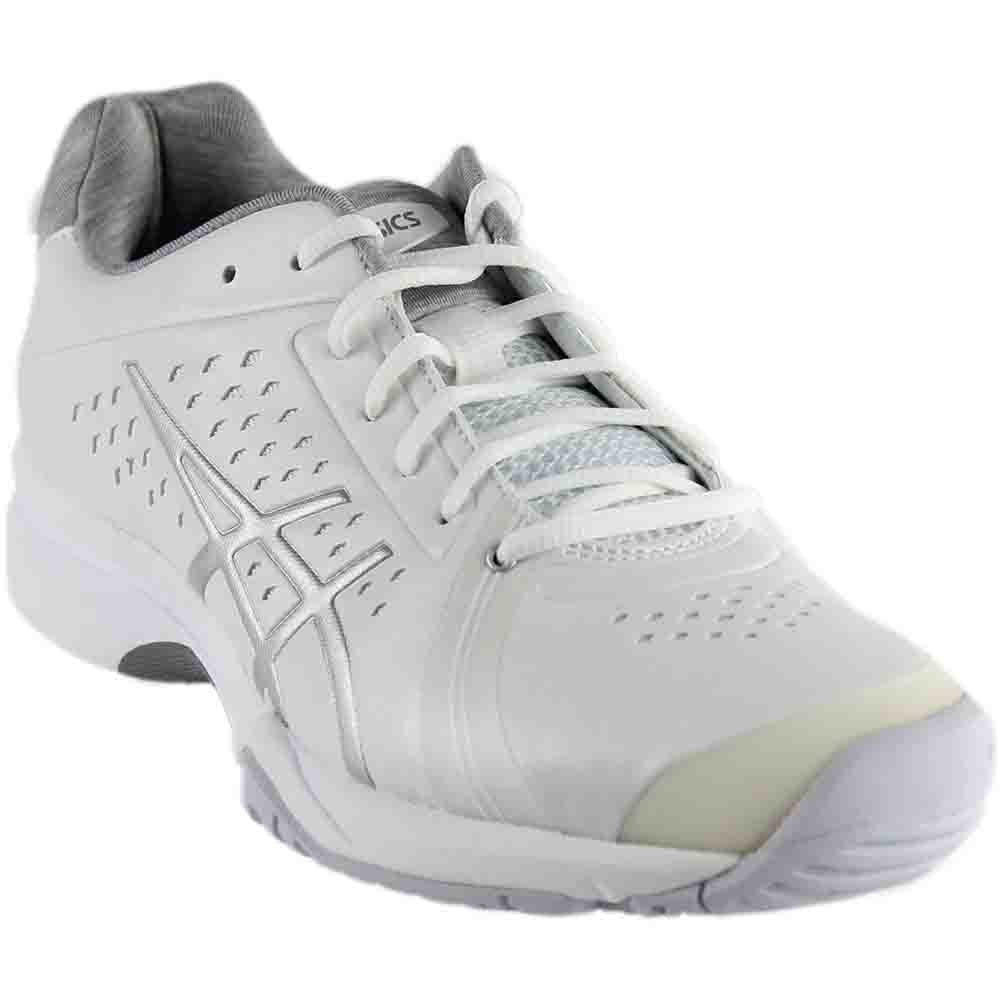 ASICS Women's Gel-Court Bella Tennis Shoe, White/Silver/White, 9 M US
