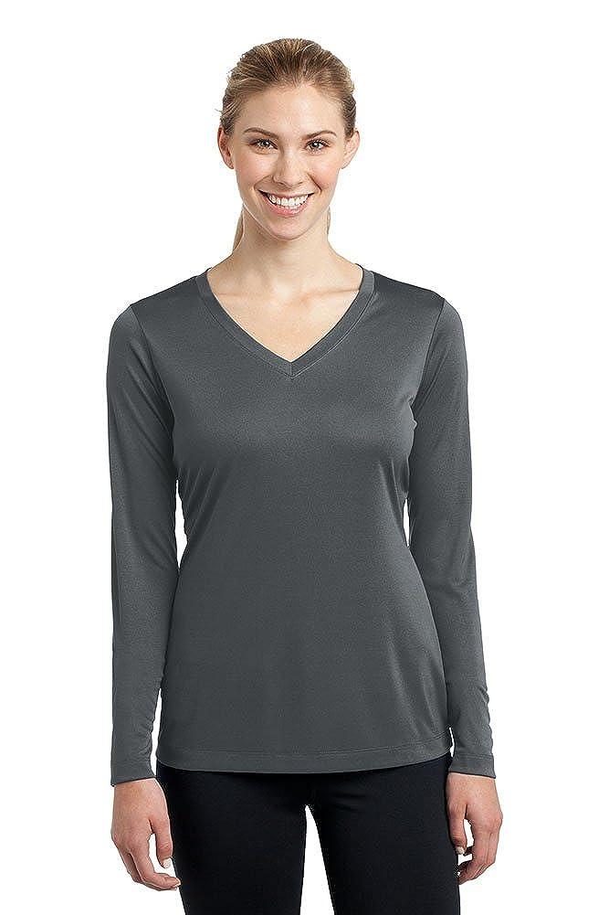 Iron Grey DriWick Women's Sport Performance Moisture Wicking Athletic Long Sleeve Shirt