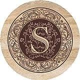 "Monogram Coaster ""S"" Set, Thirstystone Sandstone"