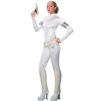 dcd31a08410712 Star Wars Padme Amidala Damen Kostüm enger Langarm Overall, weiß - XS …
