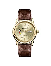 Ingersoll Men's Automatic Stainless Steel and Leather Casual Watch, Color:Brown (Model: ID00202)