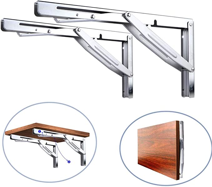 Pair Stainless Folding Extra Boat Seat Table Support