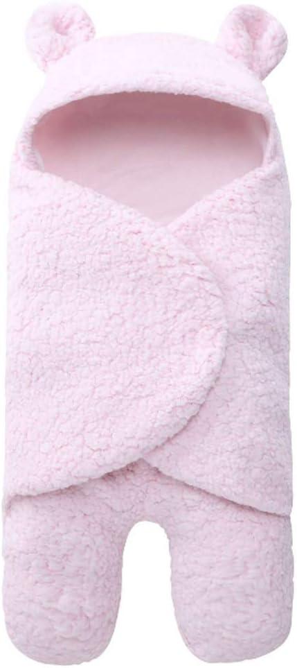 Manta Arrullo de Invierno para Bebé, Saco de Dormir Manta Envolvente para Bebé Recién Nacido Swaddle Wrap Manta para Cochecitos, Cunas, Sillas de Paseo de Bebé, 62cmx32cm