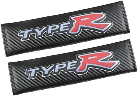 HONDA TYPE R Carbon Fibre Effect Seat Belt Shoulder Pads