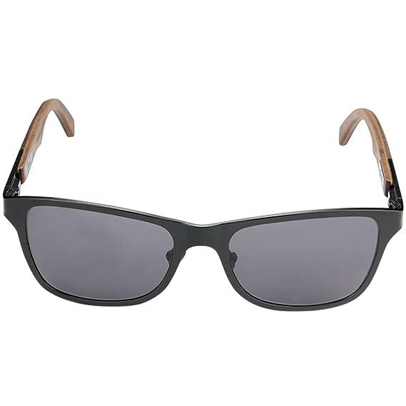 46d84fb4e7 Amazon.com  Shwood - Canby 2012-2017 Square Wood Sunglasses (Old  Construction) - Black    Ebony  Clothing