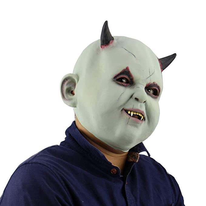 e649751517a Amazon.com: Xmecos Halloween Latex mask Funny Scary Halloween Props ...