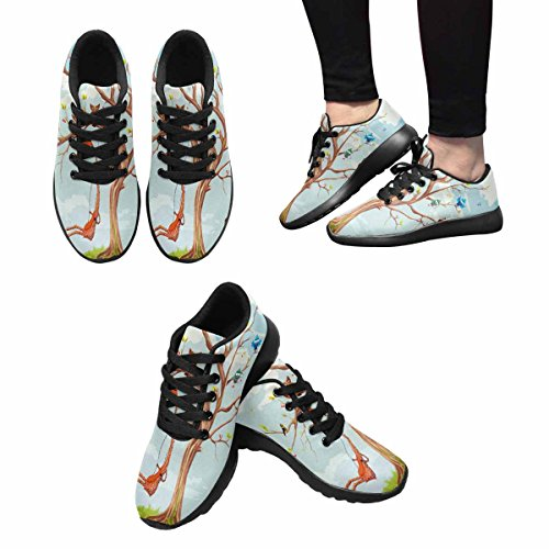 InterestPrint Womens Casual Soft Sports Road Running Walking Shoes Animals On The Tree Multi 1 YMqahoPu