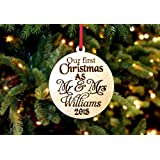 Personalized Christmas Ornament- 1st Christmas as Mr & Mrs Last Name