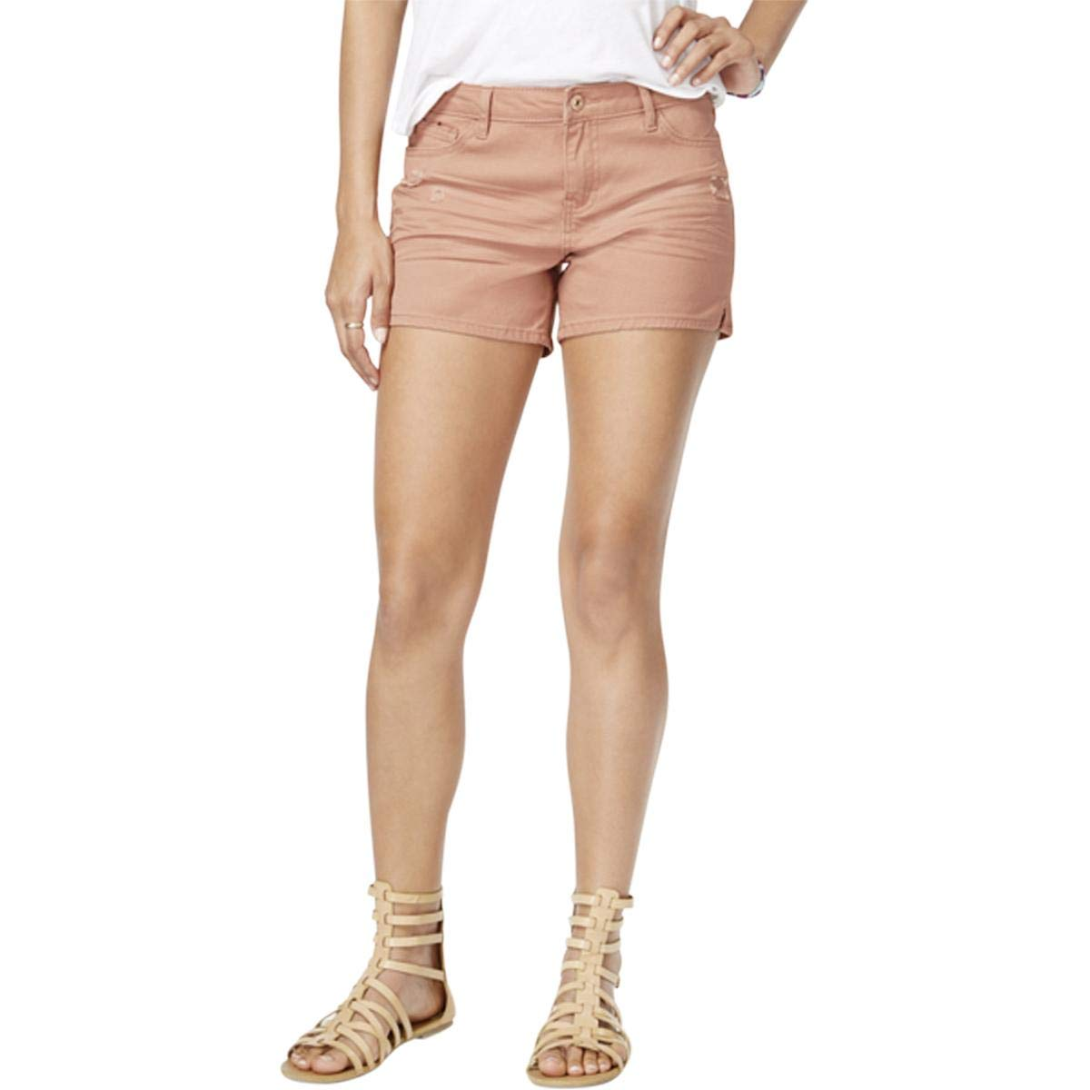 Vanilla Star Womens Twill Midi Casual Shorts