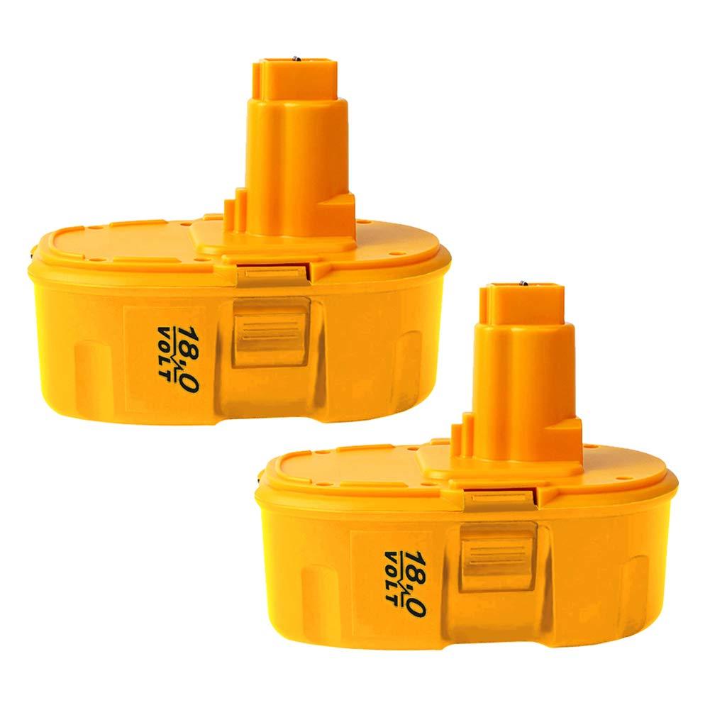 2Pack 4000mAh DC9096 18V Replacement Battery for Dewalt 18-Volt Cordless Power Tools Battery Pack DW9095 DW9096 DW9098 DE9039 DE9095 DE9096 DE9098 DC9099 DC9098(NiCd)