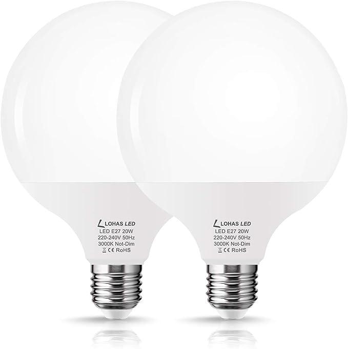 LOHAS 20 W LED Bulb, E27 LED Bulb, G120 LED Bulb, Warm White