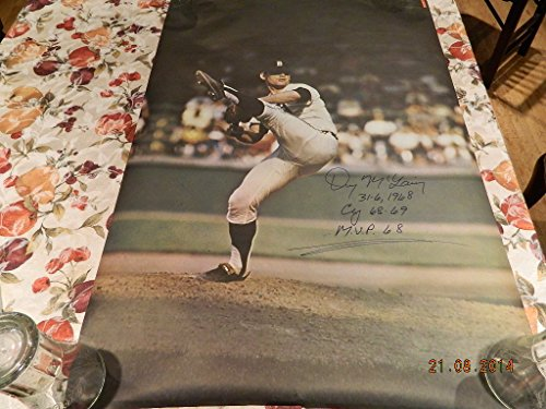 denny-mclain-autogrpahed-inscribed-1968-71-sports-illustrated-poster-tigers