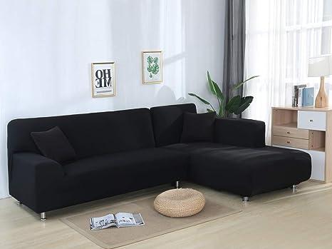 JiaQi Color sólido Funda de sofá,Stretch Tela Protector para ...