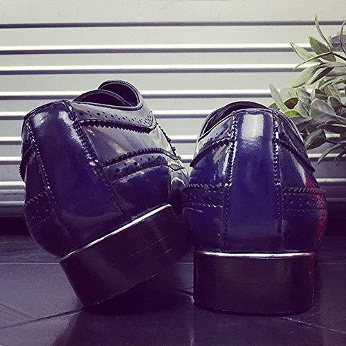 uomo oxford scultura giunzioni scarpe in punte fodera 2018 misura Eu per rosso pelle Pu Brogue Eu pizzo traspiranti 47 rosso Classiche Nero da in 39 in Colorato Colore taglia YwCtCTq
