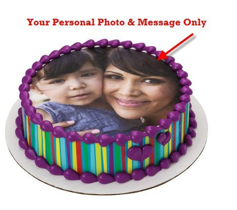 Cakesupplyshop Cj85ws - Your Personal Photo & Text Edible Image Cake Decoration Topper 5 X 7inches