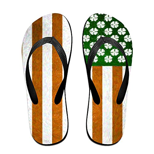 3497b717c0ca Irish American Flag Shamrock Unisex Fashion Beach Slipper Indoor And  Outdoor Classical Flip-flop Thong