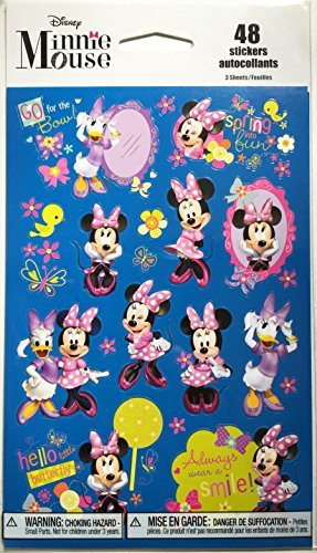 Minnie Mouse Bowtique Stickers - 48 (Disney Minnie Mouse Scrapbook)