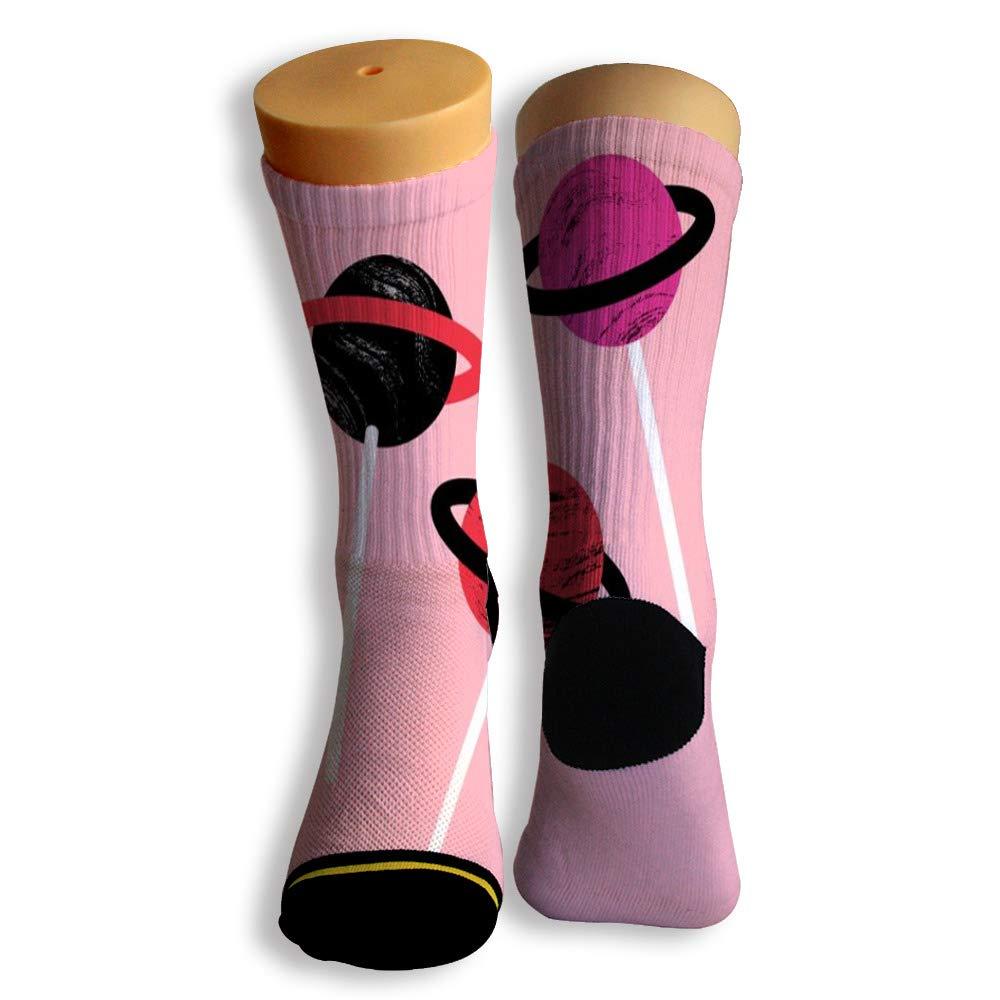Basketball Soccer Baseball Socks by Potooy Lollipop Planet 3D Print Cushion Athletic Crew Socks for Men Women