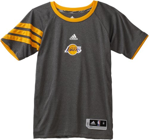 Bryant T-shirt Kobe Player Youth (NBA Youth Los Angeles Lakers Kobe Bryant Name & Number Gametime Shooter - R289Nqka (Dark Grey Heather, Large))