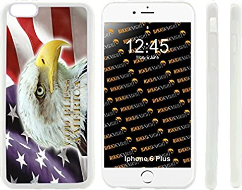 Rikki Knight American Flag Eagle Design iPhone 6 Plus & 6s Plus Hybrid Case Cover (Clear Rubber with front bumper protection) for Apple iPhone 6 Plus & 6s (5c Of Mice And Men Case)