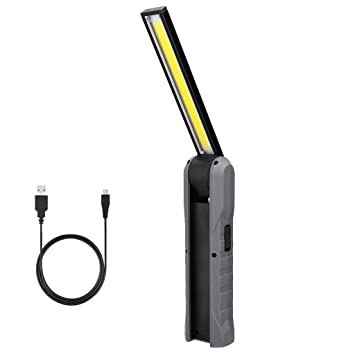 COB+LED Worklight Rechargeable Magnetic Torch Flexible Inspection Lamp Cordless
