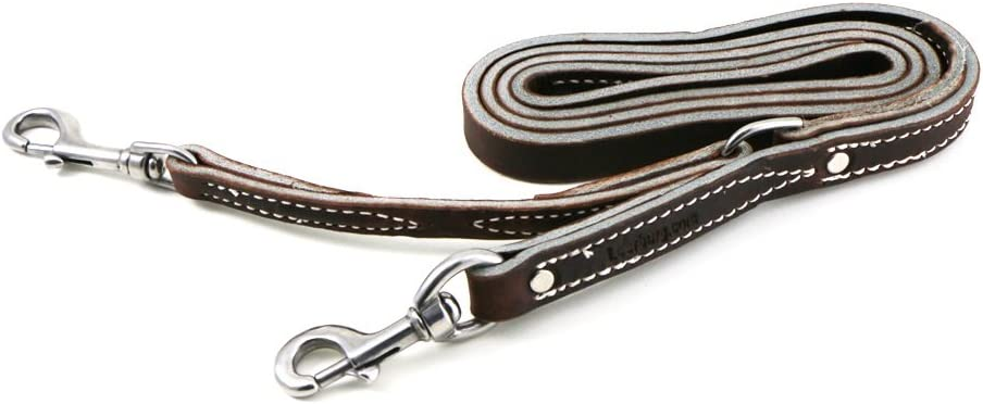 4 Foot Leather Dog Leash Made in the same style and color choice of our collars