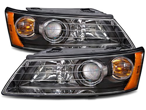 HEADLIGHTSDEPOT Halogen Headlight Compatible with Hyundai Sonata 2006-2008 Includes Left Driver and Right Passenger Side -