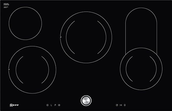Opinión sobre Neff t18pt16 X 0 hobs eléctrico/vitrocerámica/vidrio y cerámica/79,20 cm/interfaz de cocina vitrocerámica/vidrio y cerámica/Negro