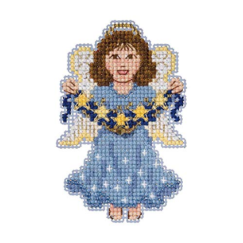 Celestial Angel Beaded Counted Cross Stitch Ornament Kit Mill Hill 2019 Winter Holiday MH181936