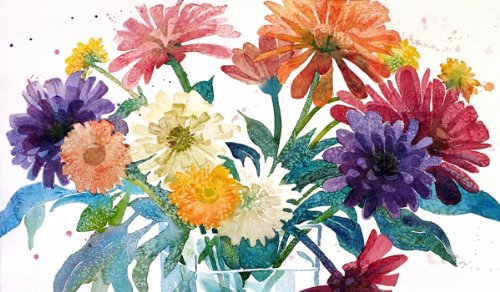 zinnia-bouquet-giclee-print-of-watercolor-flower-painting